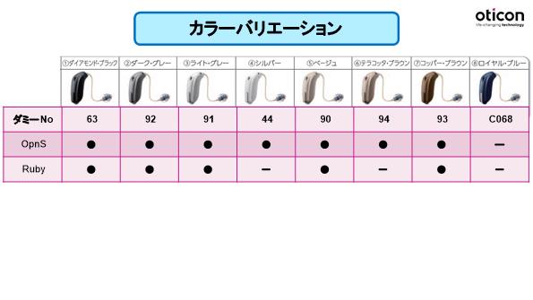 オーティコン 20200301 カラーバリエーション (3)-1